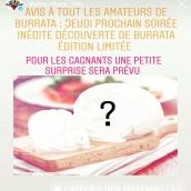 Soirée Burrata Mystère jeudi prochain à la boutique rue sainte claire 🔍Venez deviner ce que le chef vous aura caché dans nos burratas 🧐 Découverte gustative garantie ! Réservation au +33 6 95 03 79 32. On a hâte de vous voir à l'œuvre !!! #localfood #aperotime #decouverte #frenchfood #mozzarella #burrata #annecy #annecylake #hautesavoie #cheeseaddict #fromage
